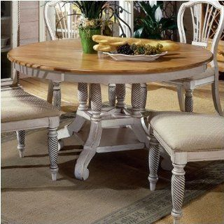 Hillsdale Furniture 4508DTBRND Wilshire Round Oval Dining Table   Oval Dining Table With Leaf