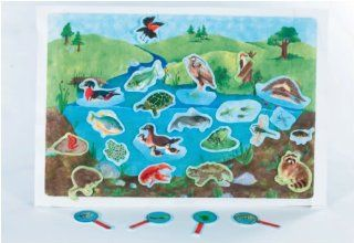 Down By The Pond   Pond Life Scene early learning flannelboard play set   Pre Cut Figures: Toys & Games