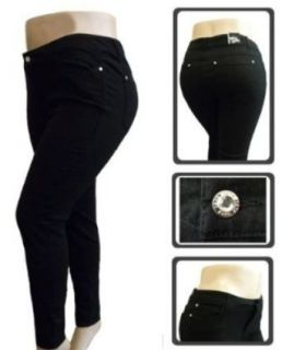 1826 Stretchy BLACK denim jeans HIGH WAIST WOMENS PLUS SIZE pants SKINNY LEG PL 880