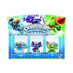 Skylanders: Spyros Adventure   Triple Character Pack (Lightning Rod, Cynder and Zook)      Games
