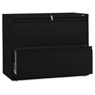 HON 882LP   800 Series Two Drawer Lateral File, 36w x 19 1/4d x 28 3/8h, Black: Computers & Accessories