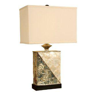Mario Lamps 10T909 Rectangle Capiz Shell Table Lamp