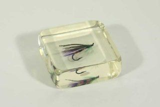 Fly Fishing Hook Glass Paperweight  Sports Fan Paper Weights  Sports & Outdoors