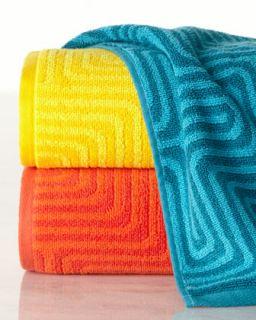 Amazing Maze Hand Towel   Trina Turk