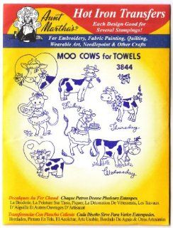 Aunt Martha's Hot Iron Transfers #3844 Moo Cows for Towels