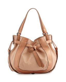 Parker Leather Hobo Bag, Nude/Bronze   Kooba