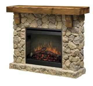 Shop Dimplex SMP 904 ST Fieldstone Pine and Stone look Electric Fireplace Mantel at the  Home D�cor Store