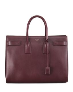 Sac de Jour Large Carryall Bag, Wine   Saint Laurent