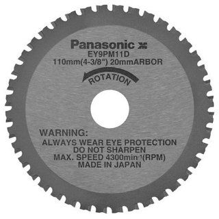 Panasonic EY9PM11D 4 3/8 Inch 40 Tooth Thin Metal Cutting Saw Blade with 20 Millimeter Arbor   Power Saw Blades