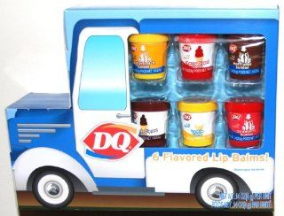 DQ Dairy Queen, 6 Ice Cream Flavored Lip Balms, Cherry Dipped Cone, Hot Fudge Sundae, Butterscotch Sundae, Chocolate Dipped Cone, Vanilla Cone and Strawberry Sundae (1 Pack): Health & Personal Care