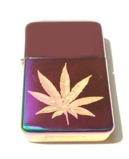Vector KGM Thunderbird Custom Lighter   Marijuana Pot Weed Ganja Leaf Logo High Polish Rainbow Color Prism Rare!: Health & Personal Care