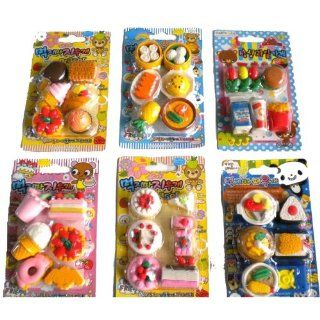 36 Pcs Cute Food Erasers Desserts Burger Drinks Cake Ice Cream Etc: Toys & Games