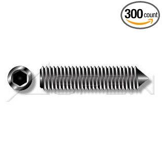 (300pcs) Metric DIN 914 M6X20 Cone Point Socket Set Screw 45H Alloy Steel, Black, Grade 14.9, Quenched and Temepered Ships Free in USA Industrial & Scientific