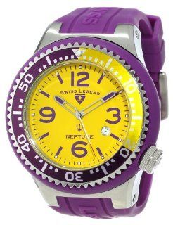 Swiss Legend Men's 21818S B LAL Neptune Yellow Dial Purple Silicone Watch at  Men's Watch store.