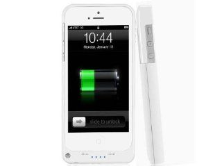 2200mAh Extended Battery Case Back Up Power Bank for iPhone 5 / 5S Back Up (iOS 7 or above Compatible) + Lightning Charging Port + Kick Stand + Slim Fit Slider Design + Full Body Protection + On/Off Switch LED Battery Level Indicator, Compatible with AT&am