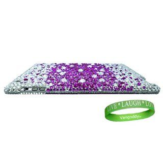 Bedazzled Diamond Purple & Silver Cover Hard Case for all models of Apple iPad 2 (2nd Generation, wifi , + AT&T 3G , 16 GB , 32GB , MC939LL/A , MC947LL/A , ect) + Live * Laugh * Love Vangoddy Wrist Band Computers & Accessories