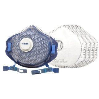 Elvex RSP C 950V RU KIT Air Safe N95 Vented Reusable Organic Vapor Relief Respirator Kit with 10 Carbon Filters: Papr Safety Respirators: Industrial & Scientific