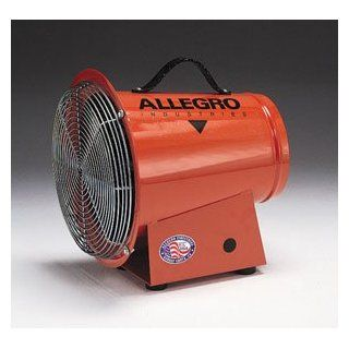 Allegro Industries DC 1/4 Horse Power Axial Blower With 12 Volt DC Electric Motor And 15' Cord With Alligator Clips: Industrial & Scientific