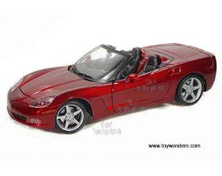 31137r Maisto   Chevy Corvette Convertible (2005, 118, Red) 31137 Diecast Car Model Auto Vehicle Die Cast Metal Iron Toy Transport Toys & Games