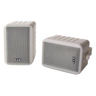 KLH 990 Indoor/Outdoor Surround Speakers (White, Pair) (Discontinued by Manufacturer) Electronics