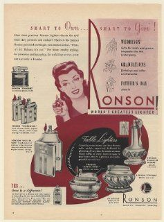 1946 Ronson Lighters Whirlwind Mastercase Queen Anne Crown Decanter Deluxe Print Ad (Memorabilia) (57656)