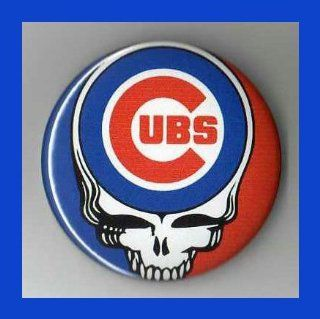 Chicago Cubs Grateful Dead Logo 2.25 Inch Magnet   Refrigerator Magnets