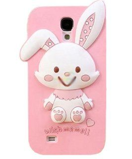 JBG Rabbit Samsung S4 i9500 New 3D Cute Cartoon Character Design Silicone Rubber Soft Case Protective Cover For Samsung Galaxy S4 IV i9500: Cell Phones & Accessories