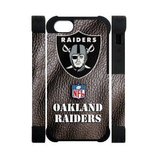 Nice NFL Oakland Raiders Logo Dual Protective 3D Polymer Covers Cases Accessories for Apple iPhone 5��5S: Cell Phones & Accessories