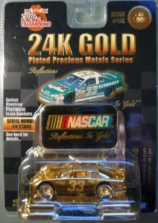 Racing Champions   1999   24K Gold Plated Precious Metals Series   Reflections   Ken Schrader   No. 33 Chevrolet Monte Carlo   1:64 Die cast Replica Race Car   1 of 9, 998   NASCAR : Other Products : Everything Else