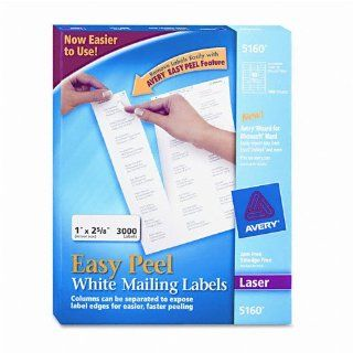 AVE5160   White Laser Address Labels w/Smooth Feed Sheets