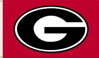 NCAA Georgia Bulldogs 3 by 5 Foot Flag G Logo with Red Background with Grommets : Sports Fan Outdoor Flags : Sports & Outdoors