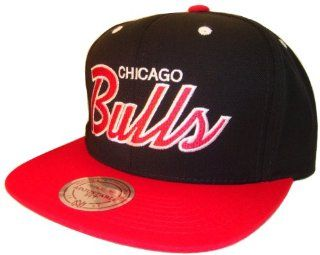 Chicago Bulls Mitchell & Ness Black & Red Adjustable Snap Back Snapback Baseball Cap Hat: Everything Else