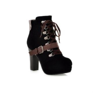 Charm Foot Fashion Womens Platform High Heel Riding Boots High Top Boots: Green And Black Boots: Shoes