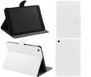 iTALKonline PADWEAR GLOSSY SHINY HEX TEXTURE STITCHING PU LEATHER LUXFOLIO BOOK Executive WHITE Wallet Case/Cover/Stand With SMART TILT Horizontal Viewing STAND For Apple iPad Mini Tablet (Wi Fi and Wi Fi + 3G) 16GB 32GB 64GB Computers & Accessories