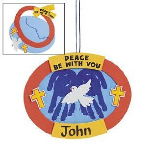 Peace Be With You Handprint Sign Craft Kit   Religious Crafts & Crafts for Kids: