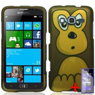 SAMSUNG ATIV S NEO BROWN CUTE CARTOON MONKEY COVER SNAP ON HARD CASE +FREE SCREEN PROTECTOR from [ACCESSORY ARENA]: Cell Phones & Accessories