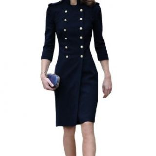 Ladies Double Breasted Half Sleeve Worsted Autumn Trench Coat at  Women�s Clothing store
