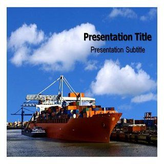 Shipping PowerPoint Template   Shipping PowerPoint (PPT) Backgrounds Templates Software