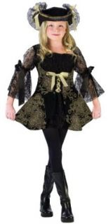 Girls Golden Pirate Costume Clothing