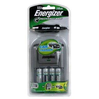 Energizer e2 Charger for AA & AAA Rechargeable Batteries with Car and Home Adapter & 4 AA Batteries (Discontinued by Manufacturer) Electronics