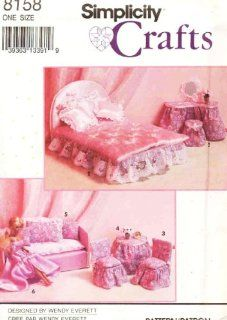Simplicity 8158 ~ Craft Pattern ~ Barbie Doll Furniture & Doll Clothes & Other 11.5 Inch Dolls: Everything Else