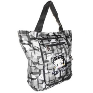 Betty Boop Black Foldable Paid Print Pockets L Book Dipper Shopping Bag Tote: Betty Boop Diaper Bag: Shoes