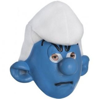 Grouchy Smurf Mask Costume Accessory: Clothing