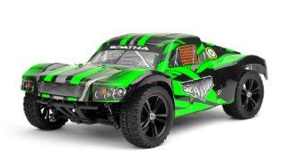 Iron Track RC Spatha 110 Scale 4WD Brushless Short Course Truck Almost Ready to Run (Green) ***REQUIRED TO RUN 7.4v 2000mah 30C Continuous 50C Burst Li Po Battery, 2 Channel Receiver, and 2 Channel Transmitter*** Toys & Games