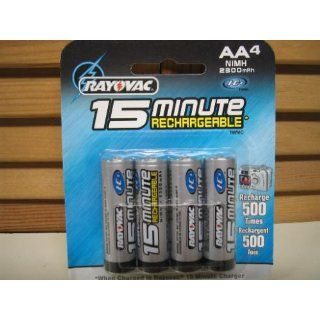 Rayovac I C3 15 Minute Rechargeable Batteries, AA , 4 batteries (Discontinued by Manufacturer): Electronics
