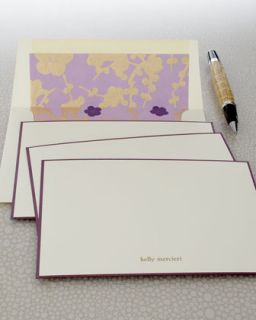 Eight Violet Cards & Envelopes   Checkerboard