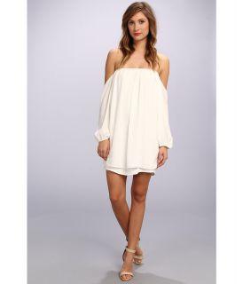Tbags Los Angeles Chiffon Off Shoulder Sleeve Mini Dress Womens Dress (Beige)