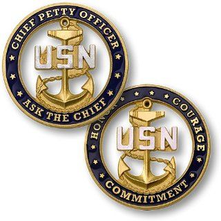 USN Chief Petty Officer   Ask the Chief, Challenge Coin