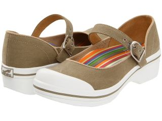 Dansko Valerie Canvas Womens Clog Shoes (Beige)