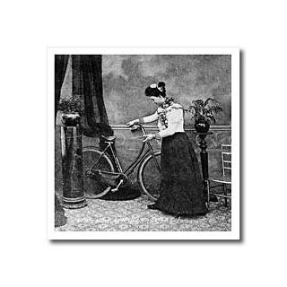 ht_16133_3 Scenes from the Past Vintage Stereoview   How Awfully Sweet Vintage Victorian Lady and Her Bike Grayscale   Iron on Heat Transfers   10x10 Iron on Heat Transfer for White Material Patio, Lawn & Garden